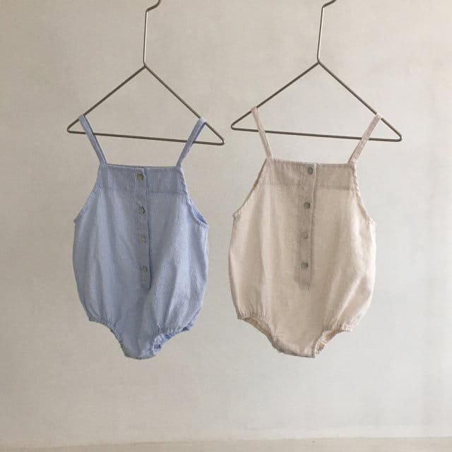 MINI ROBE - Korean Children Fashion - #Kfashion4kids - Stripes Overall
