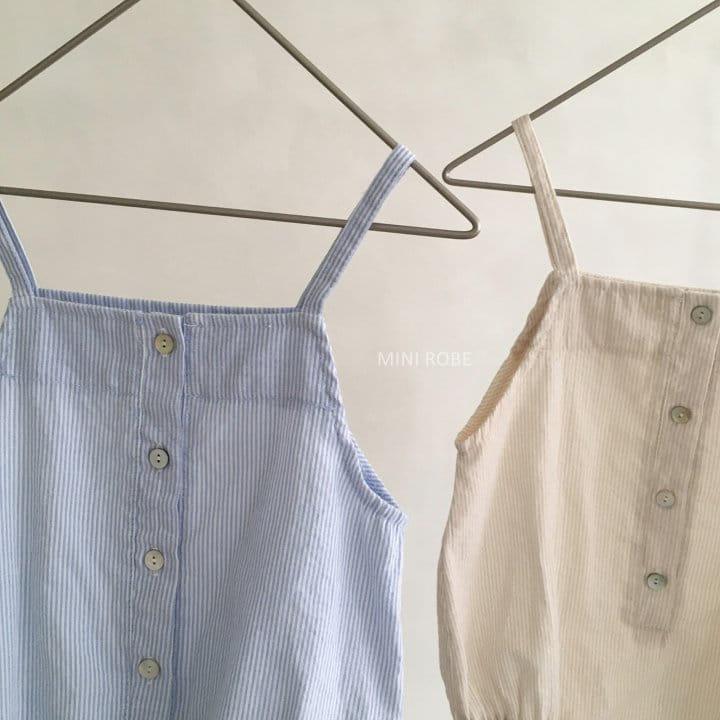 MINI ROBE - Korean Children Fashion - #Kfashion4kids - Stripes Overall - 2