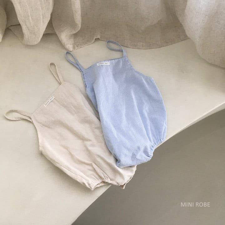 MINI ROBE - Korean Children Fashion - #Kfashion4kids - Stripes Overall - 5