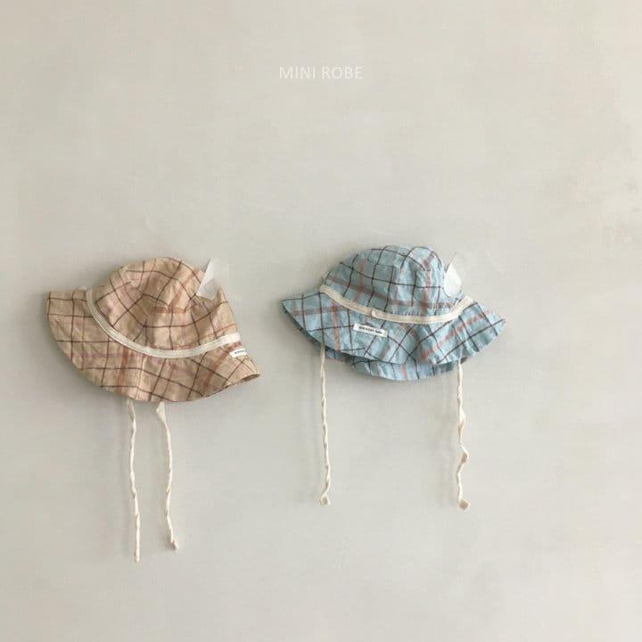 MINI ROBE - Korean Children Fashion - #Kfashion4kids - Check Bucket Hat - 2