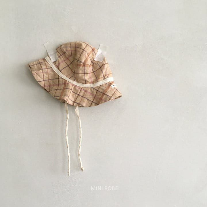 MINI ROBE - Korean Children Fashion - #Kfashion4kids - Check Bucket Hat - 3