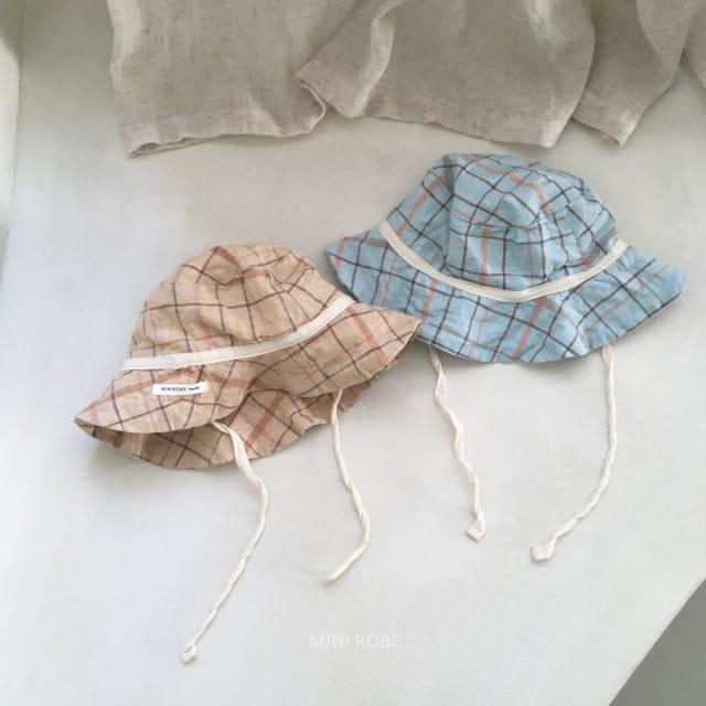 MINI ROBE - BRAND - Korean Children Fashion - #Kfashion4kids - Check Bucket Hat