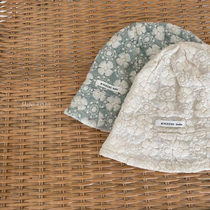 MINI ROBE - Korean Children Fashion - #Kfashion4kids - Emboridery Bucket Hat - 3