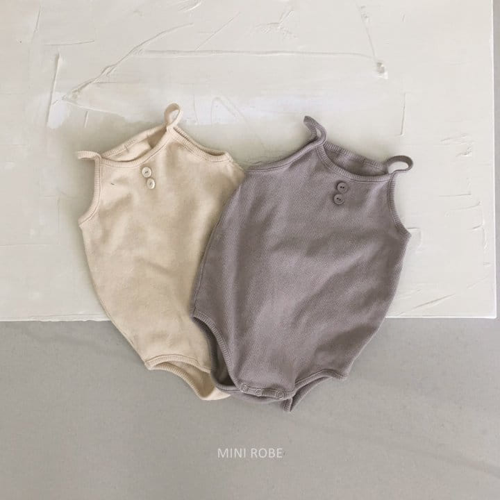 MINI ROBE - Korean Children Fashion - #Kfashion4kids - Waffle Bodysuit