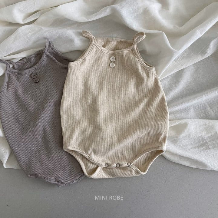 MINI ROBE - Korean Children Fashion - #Kfashion4kids - Waffle Bodysuit - 12