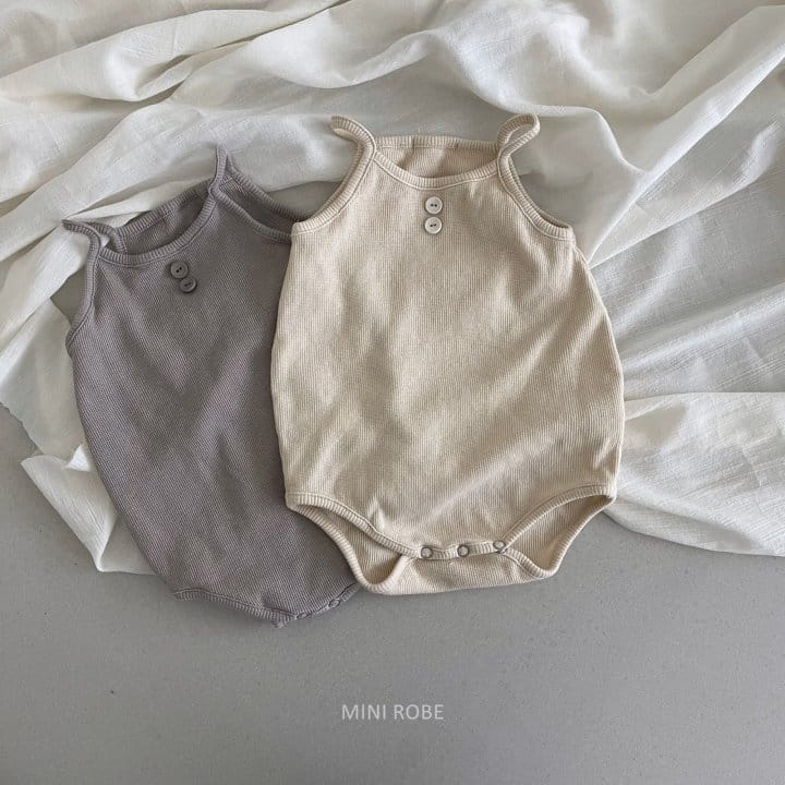 MINI ROBE - Korean Children Fashion - #Kfashion4kids - Waffle Bodysuit - 2