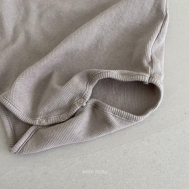 MINI ROBE - Korean Children Fashion - #Kfashion4kids - Waffle Bodysuit - 5