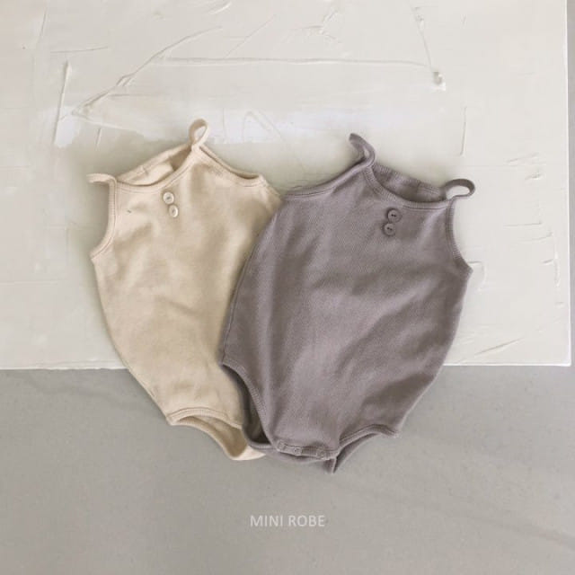 MINI ROBE - BRAND - Korean Children Fashion - #Kfashion4kids - Waffle Bodysuit