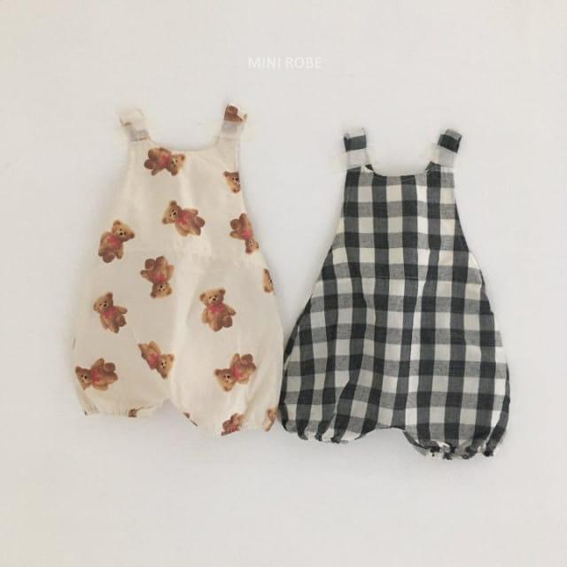 MINI ROBE - BRAND - Korean Children Fashion - #Kfashion4kids - Summer Dungarees Bodysuit
