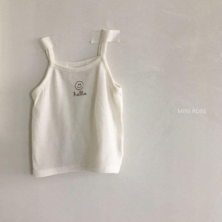 MINI ROBE - Korean Children Fashion - #Kfashion4kids - Smile Sleeveless Bottom Set - 2