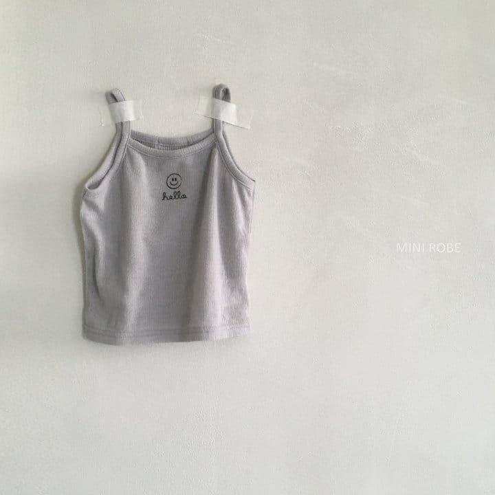 MINI ROBE - Korean Children Fashion - #Kfashion4kids - Smile Sleeveless Bottom Set - 3
