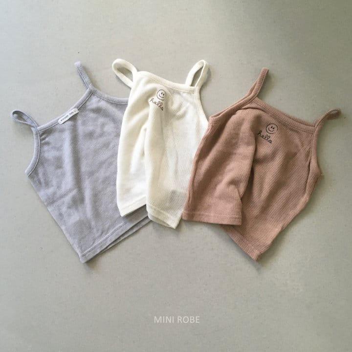MINI ROBE - Korean Children Fashion - #Kfashion4kids - Smile Sleeveless Bottom Set - 5
