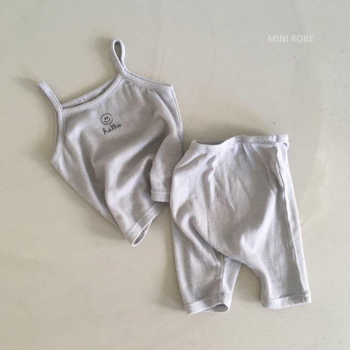 MINI ROBE - Korean Children Fashion - #Kfashion4kids - Smile Sleeveless Bottom Set - 7