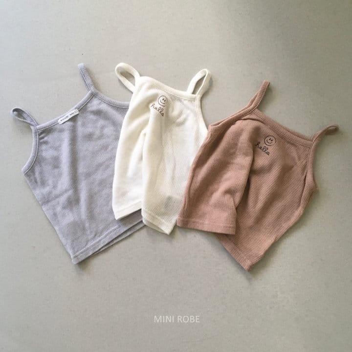 MINI ROBE - Korean Children Fashion - #Kfashion4kids - Smile Sleeveless Bottom Set - 8