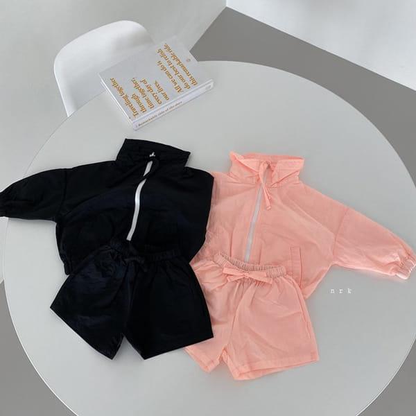 NRK - Korean Children Fashion - #Kfashion4kids - Crunch Zip-up Top Bottom Set - 2