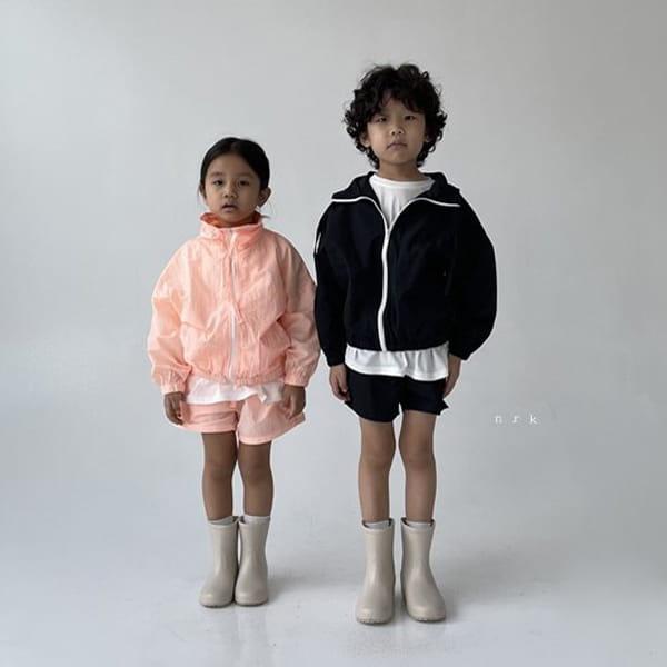 NRK - Korean Children Fashion - #Kfashion4kids - Crunch Zip-up Top Bottom Set - 3
