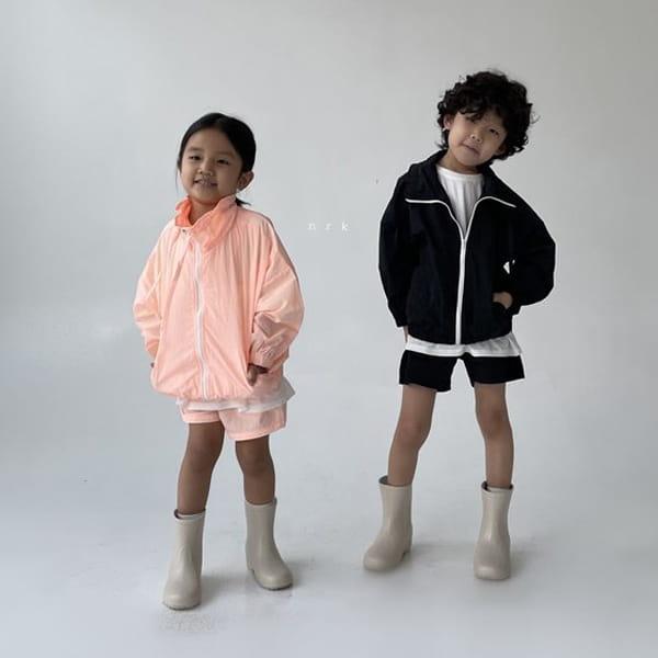 NRK - Korean Children Fashion - #Kfashion4kids - Crunch Zip-up Top Bottom Set - 4