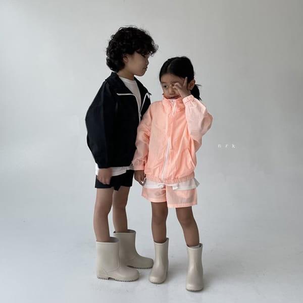 NRK - Korean Children Fashion - #Kfashion4kids - Crunch Zip-up Top Bottom Set - 7