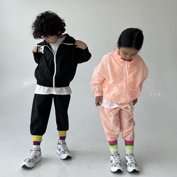 NRK - Korean Children Fashion - #Kfashion4kids - Crunch Zip-up Top Bottom Set - 9
