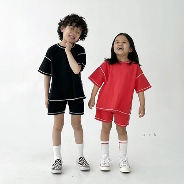 NRK - Korean Children Fashion - #Kfashion4kids - 88 Odd Top Bottom Set