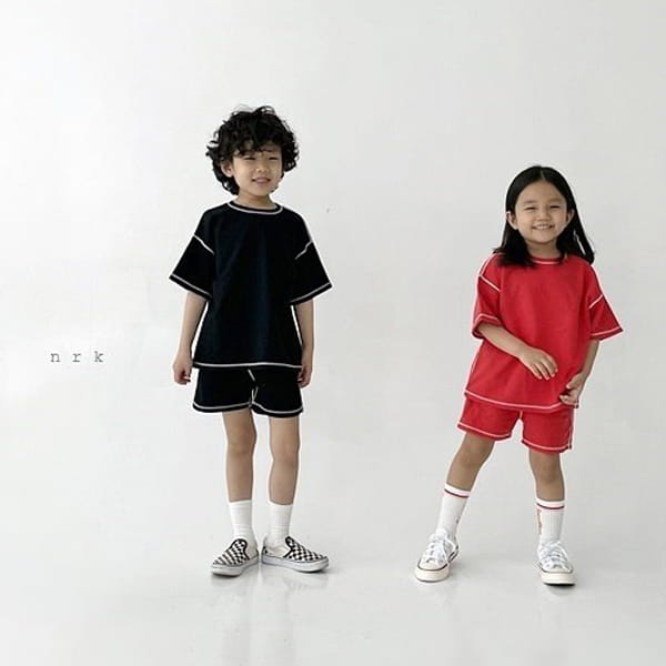 NRK - Korean Children Fashion - #Kfashion4kids - 88 Odd Top Bottom Set - 12