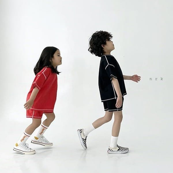 NRK - Korean Children Fashion - #Kfashion4kids - 88 Odd Top Bottom Set - 6