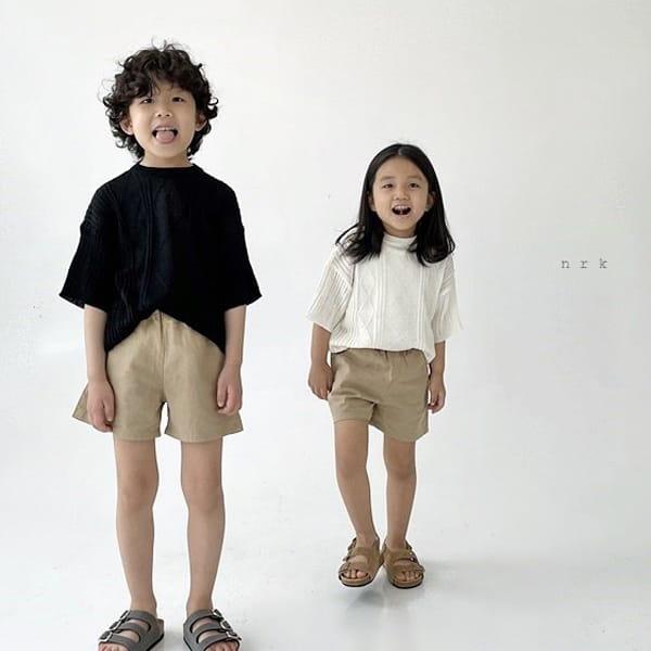 NRK - Korean Children Fashion - #Kfashion4kids - Cable Short Sleeves Knit
