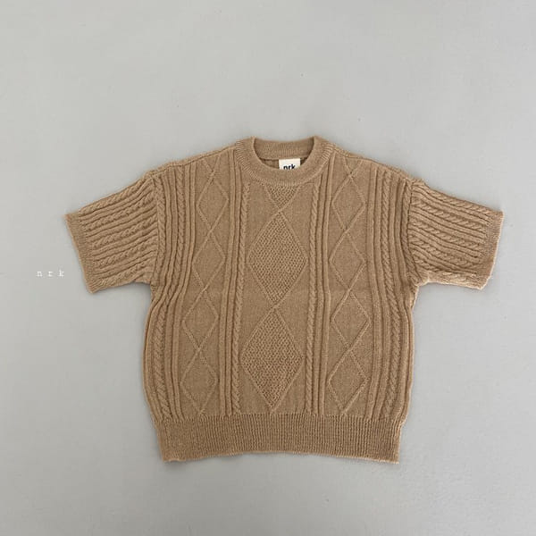 NRK - Korean Children Fashion - #Kfashion4kids - Cable Short Sleeves Knit - 6