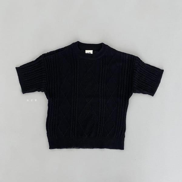 NRK - Korean Children Fashion - #Kfashion4kids - Cable Short Sleeves Knit - 8