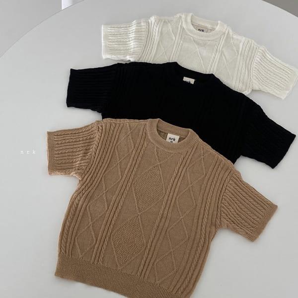 NRK - Korean Children Fashion - #Kfashion4kids - Cable Short Sleeves Knit - 9