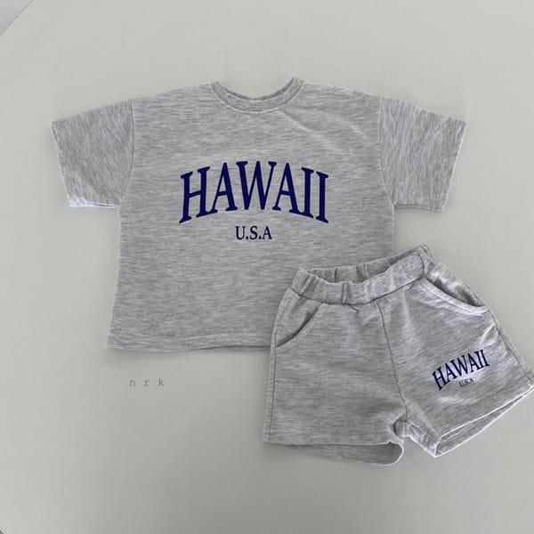 NRK - Korean Children Fashion - #Kfashion4kids - Hawaii Top Bottom Set - 10