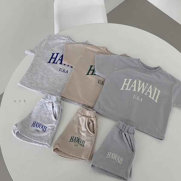 NRK - Korean Children Fashion - #Kfashion4kids - Hawaii Top Bottom Set - 2
