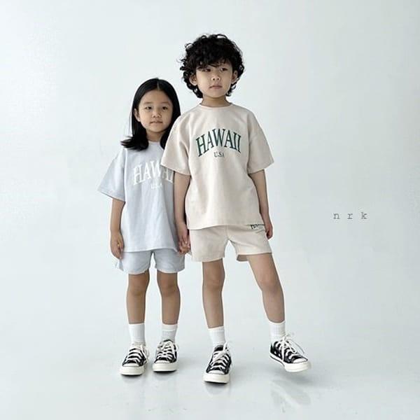 NRK - Korean Children Fashion - #Kfashion4kids - Hawaii Top Bottom Set - 3