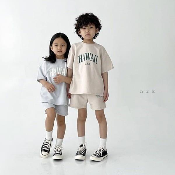 NRK - Korean Children Fashion - #Kfashion4kids - Hawaii Top Bottom Set - 4