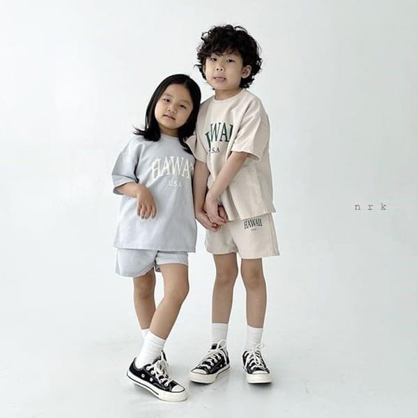 NRK - Korean Children Fashion - #Kfashion4kids - Hawaii Top Bottom Set - 5