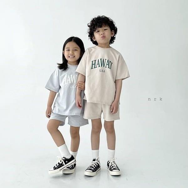 NRK - Korean Children Fashion - #Kfashion4kids - Hawaii Top Bottom Set - 6