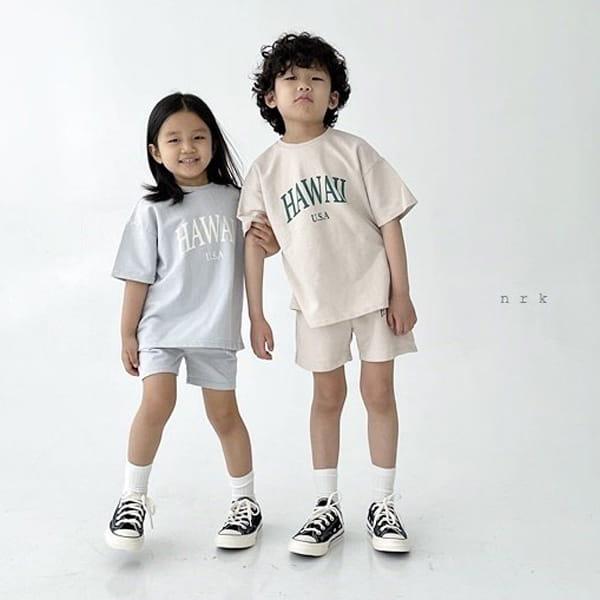 NRK - Korean Children Fashion - #Kfashion4kids - Hawaii Top Bottom Set - 7