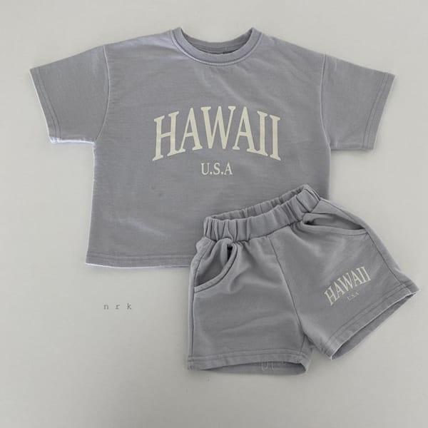 NRK - Korean Children Fashion - #Kfashion4kids - Hawaii Top Bottom Set - 8