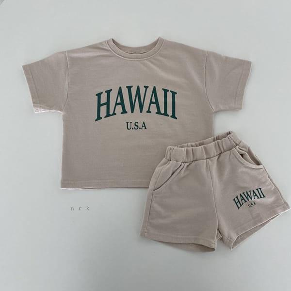 NRK - Korean Children Fashion - #Kfashion4kids - Hawaii Top Bottom Set - 9