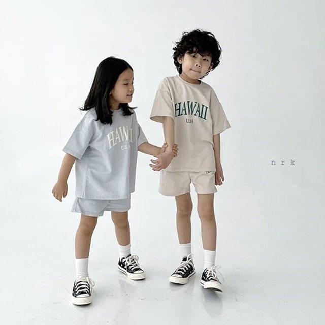 NRK - BRAND - Korean Children Fashion - #Kfashion4kids - Hawaii Top Bottom Set