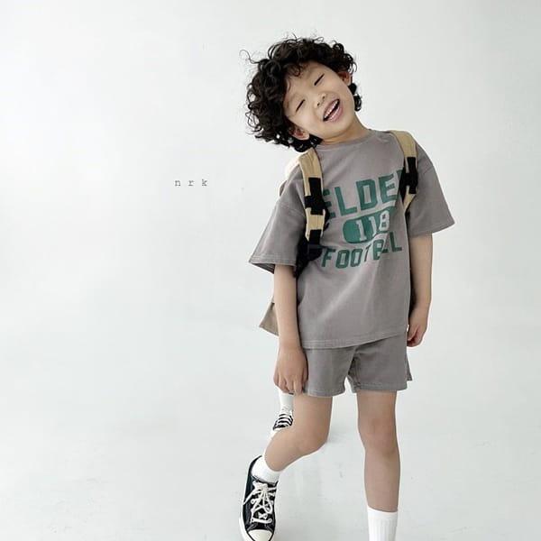 NRK - Korean Children Fashion - #Kfashion4kids - Pigment Top Bottom Set - 8