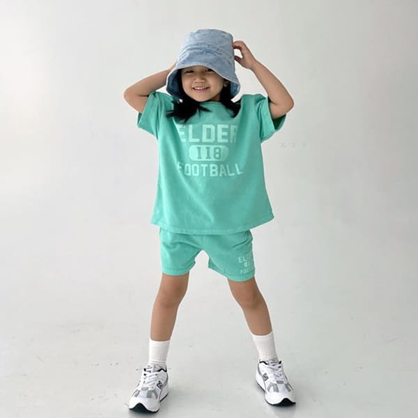 NRK - Korean Children Fashion - #Kfashion4kids - Pigment Top Bottom Set - 9