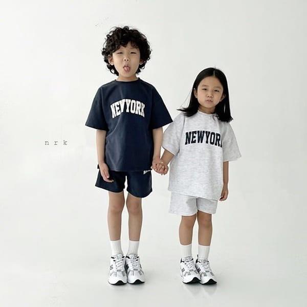 NRK - Korean Children Fashion - #Kfashion4kids - Cool New York Top Bottom Set - 6