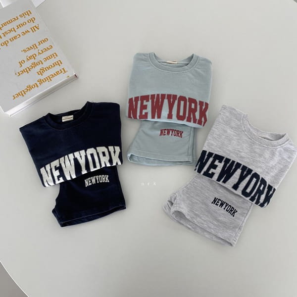 NRK - Korean Children Fashion - #Kfashion4kids - Cool New York Top Bottom Set - 8