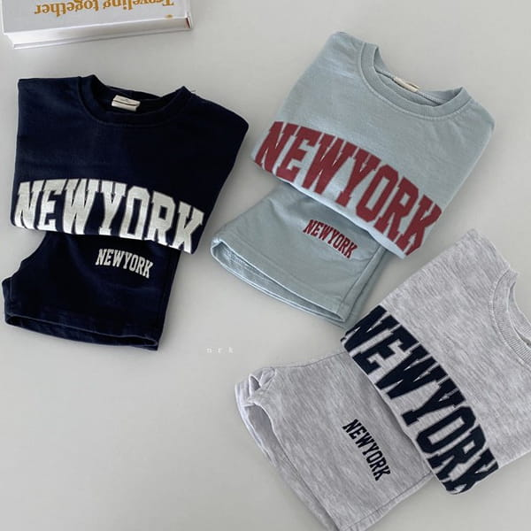 NRK - Korean Children Fashion - #Kfashion4kids - Cool New York Top Bottom Set - 9