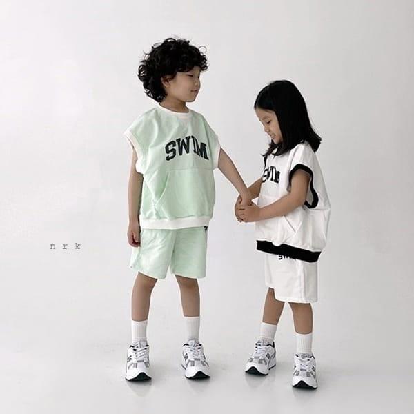 NRK - Korean Children Fashion - #Kfashion4kids - Swim Sleeveless Top Bottom Set - 12