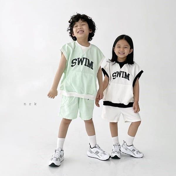 NRK - Korean Children Fashion - #Kfashion4kids - Swim Sleeveless Top Bottom Set - 4