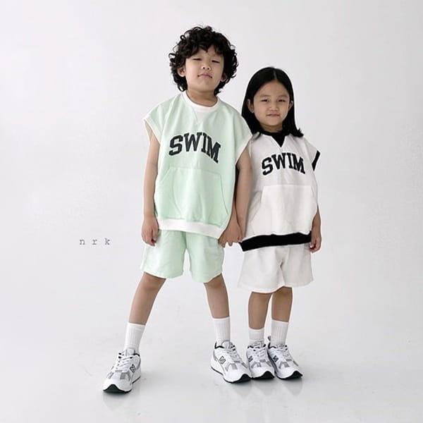 NRK - Korean Children Fashion - #Kfashion4kids - Swim Sleeveless Top Bottom Set - 5