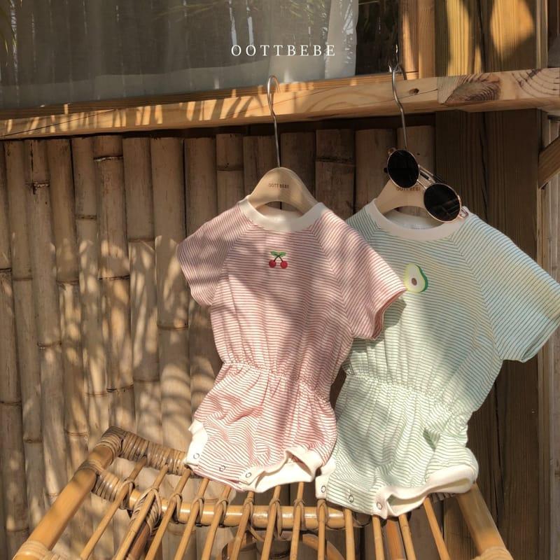 OOTT BEBE - Korean Children Fashion - #Kfashion4kids - Fruit Bodysuit - 9
