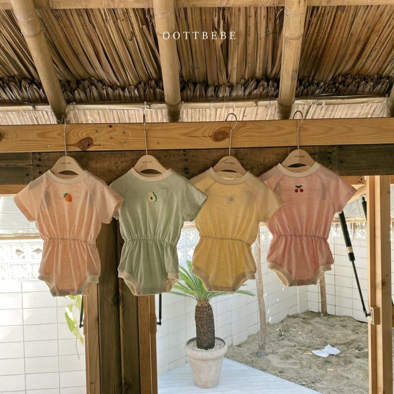 OOTT BEBE - BRAND - Korean Children Fashion - #Kfashion4kids - Fruit Bodysuit